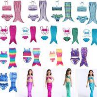 Wholesale 24 Month Swimwear Girls - Girls Mermaid Tail Swimsuits Kids Mermaid Bikini Girls Swimsuits Kids Swimwear Mermaid Bathing Suits Swimming Costume 24 design KKA2317