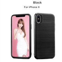 Wholesale Iphone Cove Case - Wire Drawing Armor TPU Case Cove For iPhone X 8 7 6 Plus For Samsung Galaxy Note 8 S8Plus A
