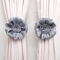 Wholesale Decorative Window Beads - Wholesale-New Clip-on Home living Room Bed Room Rose Flower Curtain Tie Backs Tieback Holder Voile Drape Panel Decorative