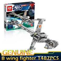 Wholesale War Puzzle - LEPIN 05045 Star series Collection Series B Wing Star Fighter 1487PCS Puzzle Brick Wars Toys Compatible legoed with 10227