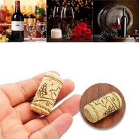 Wholesale Plastic Wine Cork Stoppers - Straight Bottle Wood Corks Wine Natural Bottle Stopper Sealing Plug Bar Tools Wine Cork Wooden Sealing Caps OOA3596