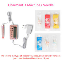 Wholesale Lip Plugs - Charmant 3 Embroidery Machine eyebrow tattoo machine for beauty Tattoo Needle included box package Plug-in Mode