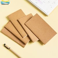 Wholesale Kraft Paper Note Book - Infun Cowhide Paper Notebook Blank   Lined Paper Notepad Book Vintage Soft Copybook Daily Memos Kraft Cover Journal Note Book
