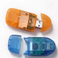 kart okuyucu dijital toptan satış-Sıcak! USB 2.0 SD SDHC MMC RS-MMC Dijital Bellek Kartı Okuyucu Adaptörü, Ücretsiz Drop Shipping