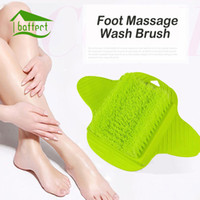 Wholesale Massage Feet Spa - Foot Massage Brush Bath Blossom Scrub Rubbing Brushes Exfoliating Feet Scrubber Spa Shower Remove Sole Dead Skin Cleaning Brush