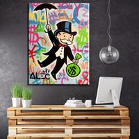 ingrosso belle arti americane-ZZ234 pittura di arte moderna Alec Monopolio pittura a olio americana su tela home decor picture Soggiorno corridoio Fine Art