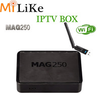 Mag 250 IPTV Smart TV Box Canaux vidéo <b>Set Top Box STB</b> wifi Google Internet Media Player mag250 VS Mag254