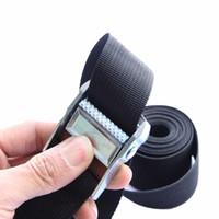 Wholesale Family Straps - 1-6 Meter Width Nylon Pack Cam Tie Down Strap Lash Luggage Bag Belt Metal Buckle 25mm SC031