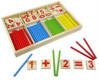 Wholesale Montessori Materials Wholesale - Wholesale- New 1PC Digital Intelligence Great Toys Montessori Math Wooden Material Color Calculation Early Education Enlightenment Toy