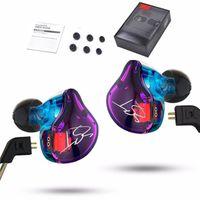 auriculares de música al por mayor-Auriculares con cable KZ ZST Armature Dual Driver Auricular de 3.5 mm Cable desmontable Auriculares intrauditivos Monitores de audio HiFi Music Sports Headset