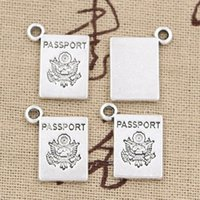 Wholesale Vintage Craft Books - Wholesale- 20pcs Charms book passport 18*14mm handmade Craft pendant making fit,Vintage Tibetan Silver,DIY for bracelet necklace