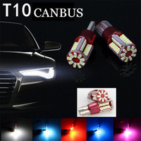 Wholesale led door plate light resale online - Quality car led lights CANBUS T10 W5W led smd no OBD error occurrence car side wedge tail light license plate lamp bulb