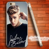 Wholesale Case Iphone 4s Justin - Capa Justin Bieber 2017 Soft Clear TPU Case for iPhone 6 6S 7 Plus 5S SE 5 5C 4S 4 Case Silicone Cover.