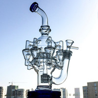 Wholesale hookah bowls sale for sale - Group buy Hot Sale Matrix Perc Oil Dab Rigs Octopus Arms Glass Bongs Recycler Bong Thick Glass Unique Bong mm Hookahs With Bowl Water Pipes