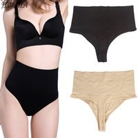 Wholesale Seamless Panty Thong - Wholesale- New Seamless Body Shaper Panty Thong High Waist Slimming Butt Lifter Panties Cincher Shapewear Tummy Control Girdle Underwear
