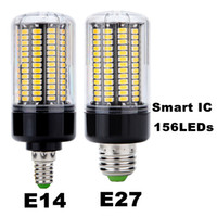 Wholesale Wholesale Flickering Led Bulbs - 2017 NEW E27 E14 No Flicker LED Lamp bulb Smart IC AC220V 110v Corn Light 5736 SMD 12W 15W Lampada Led Spotlight for Chandelier