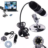 Wholesale Usb Digital Microscope Stand - 2017 new 2MP 1000X 8LED USB Digital Microscope Endoscope Zoom Video Magnifier With Stand for Christmas gift
