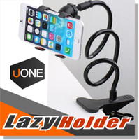 Wholesale Fit Beds - Cell Phone Holder Universal Clip Holder Lazy Bracket Holders Flexible Long Arms for iPhone GPS Devices Fit on Desktop Bed Mobile Stand