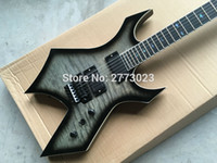 Wholesale Ems Electric Guitars - B. C. New 24F black double rocking electric guitar provides EMS delivery, can be customized according to requirements LOGO