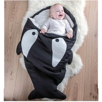 Wholesale- Cute Cartoon Baby Sacco a pelo all'interno Tessuto di cotone esterno Baby Quilt Winter Warm Swaddle Wrap Infant Coperte