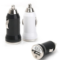 Wholesale car lighter adapter mini online - 2 Port Colorful Universal Bullet Mini USB Car Charger Adapter cigarette lighter For Iphone5 Plus Samsung All Mobile Phone