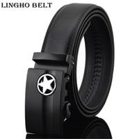 Wholesale famous points - New Arrival five-pointed star black automatic belts men business luxury belt 2017 famous designer belt for men,KB-15