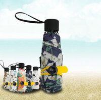 Wholesale Sunny Light - Mini Pocket Umbrella ompact Windproof Folding umbrella Travel Parasol Super Light Portable Mini Pocket Umbrella Sunshade KKA2308