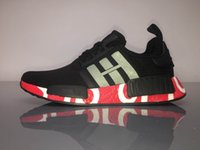 Wholesale Shark Rubber - 2017 Real Boost NMD Super Quality Shark joint NMD R1 Real Boost Human Race Men Women NMD R1 Running Shoes sports shoes 40-46