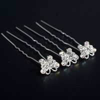 20PCS Wedding Bridal Animal Butterfly Crystal Hair Pinces Clips demoiselle d'honneur Bijoux Hairband pour les femmes Factory Direct Wholesale