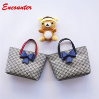 Wholesale Baby Blue Purse - Encounter Kids Unique Design Handbags for Party Childrens Brand Small Shopping Totes Little baby girls purse Toddlers kid Bow bags EN089