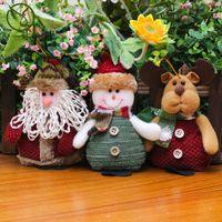 Wholesale Christmas Tree Gadget - 2017 New Santa Claus Snow Man Doll Christmas Decorations Xmas Tree Gadgets Ornaments Doll Christmas Gift