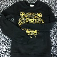 Wholesale Embroidered Sweatshirt Xl - Hot Sale free shipping 2018 winter women fashion Men Women Embroidered tiger sweater brand women men hoodie Sweatshirts KENZ Fleece