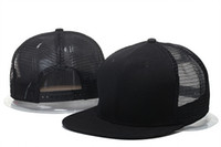 Wholesale snapback online - HOT Brand new blank mesh snapback baseball caps hip hop cotton casquette bone gorras hats for men women