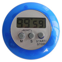 Wholesale Free Digital Timer - Digital kitchen timer Kitchen helper Mini magnet Round Digital LCD Kitchen Count Down Clip Timer Alarm free shipping by DHL