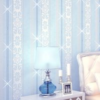 Wholesale Vertical Stripes Wall Paper - Wholesale-papel de parede para quarto Continental vertical stripes diamond embroidery Mediterranean style mural wall paper TV backdrop