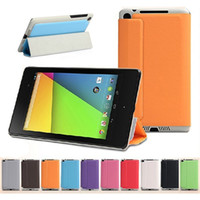 Wholesale Asus Nexus Screen Protector - Wholesale-Magnetic Slim PU Leather Case Smart Cover For 2013 ASUS New Nexus 7 2nd Stand Leather Cover Case,Gift screen Protectors