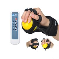 Compra Massaggio Fisso-3 modalità Hot Compress Hand Vibrating Massager Ball Hands Inability Disease Fix Tape Riscaldamento Massaggiatore dispositivo di allenamento con le dita