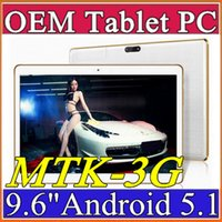 Wholesale Quad Core Ips Mtk6589 3g - 10X OEM Arrival 9.6 Inch Tablet PC MTK8382 MTK6592 Quad Core Android 5.1 Tablet 1GB 16GB 5mp IPS Screen 800*1280 GPS 3G phone Tablets E-9PB