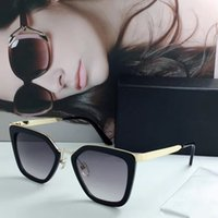 Wholesale Butterfly Shaped Case - 53S Luxury Brand Sunglasses Cat Eye Shape Fashion Retro Vintage Summer Style Women Brand Designer Frameless Frame Top Quality With Case