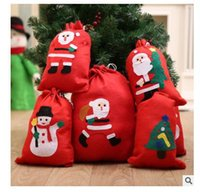 Wholesale Merry Christmas C - Christmas Gifts Bags Merry Christmas Santa Claus Lovely Candy Gift Bags for Christmas Decorations Party Favors DHL Free Shipping