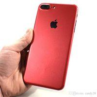 protetor de tela colorida iphone 5s venda por atacado-Para a apple iphone7 luxo vermelho fosco cor metálica protector de telefone celular adesivos de tela iphone7 7 plus 6 6 splus 5 / 5s