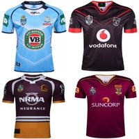 Wholesale Warriors Jersey Xl - Free shipping NRL National Rugby League top quality Queensland QLD Maroons Rugby jerseys NSWRL Holden NSW blue Warriors brisbane Rugby Shirt