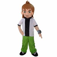 Wholesale Brave Dress - Ben 10 Cartoon Mascot Costume Brave characters Fancy Dress Adult Size Free Shipping