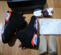Wholesale Box Ds - Wholesale Best Quality Air Retro 6 Black Infrared red 2014 VI DS sneakers Basketball Shoes With Box