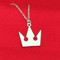 Wholesale Kingdom Hearts Sora - New Kingdom Hearts Sora Crown Pendant Necklaces Silver Pendants Women Men Chritsmas Gift Fashion Jewelry 161746