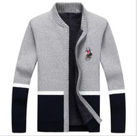 Wholesale Cardigan College Sweater Women - 2017 Fashion New Arrival Cardigan Masculino High Quality Autumn&Winter Casual Warm College Style Mens Knitted Sweaters men women coats