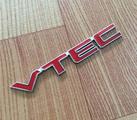 Wholesale honda spirior - VTEC Emblem Badge Logo 3D Car Styling Metal Sticker Refit Decal Fender Tail Trunk For Honda Civic Accord Odyssey Spirior CRV Fit