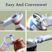 Wholesale Wholesale Can Soda - 7 In 1 Multi-Function Opener Automatic Bottle Can Jar Beer Wine Soda Opener Open Cans Lift Tabs Kitchen Cooking Tools