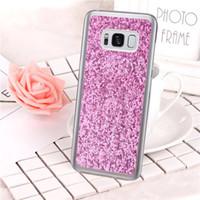 Wholesale S4 Mini Glitter Case - Luxury Glitter TPU Silicon Cover For Samsung Galaxy S8 Plus S7 Edge S6 Edge S5 S4 Mini S3 Case Soft Coque Fundas