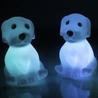 Wholesale Turtles Night Lamp - Novelty Animal Frog Dog Turtle Seven Colors Changeable Led Flashing Night Lights Lamp Toys for New Year's Christmas Birthday Novelty OTH589